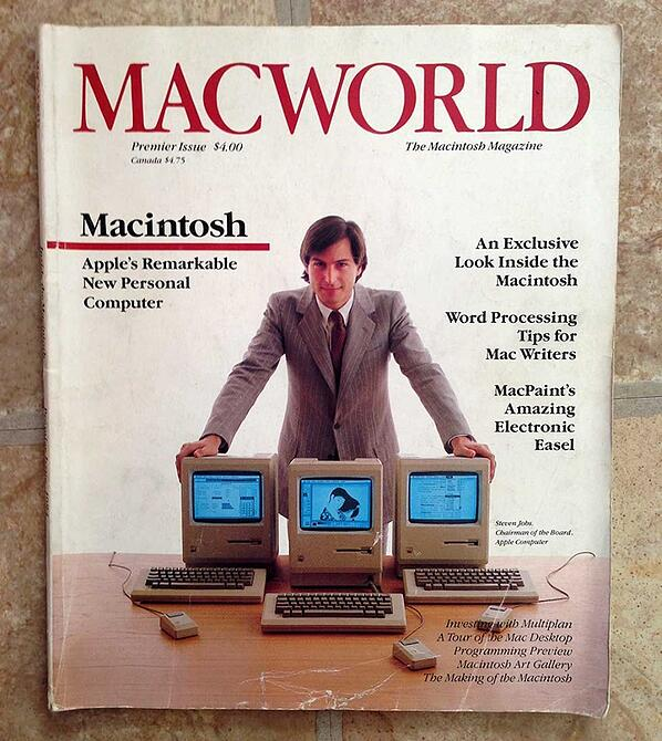 Steve Jobs presents the Mac
