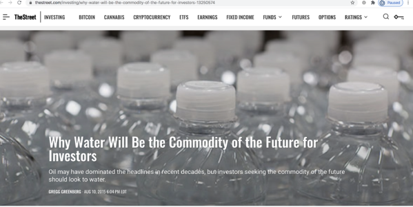 WallStreet -  Commodity of the future