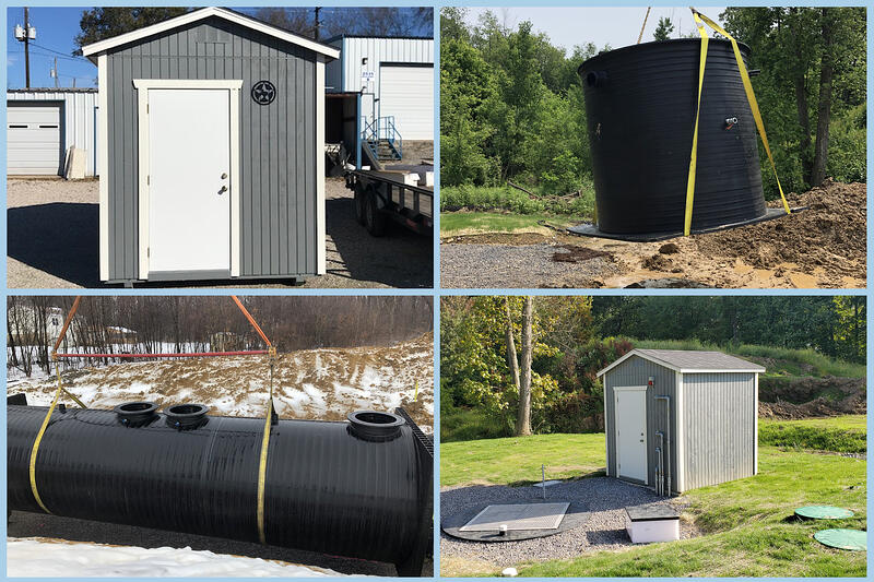 Closed Loop System Includes Control Station, 10,000 Gallon Storage Tank, and Membrane BioReactor Vessel