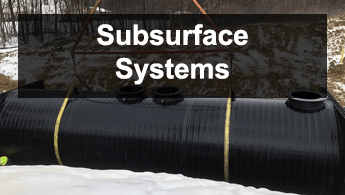 subsurface wastewater treatment system