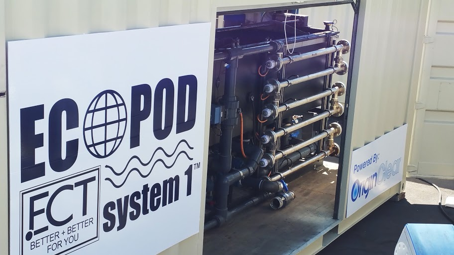 OriginClear licensee launches ECOPOD system 1 in the Kern County oil fields.