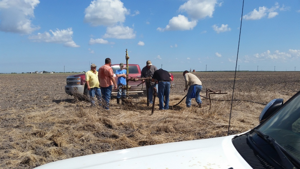 Pumping connecting their H2S-N system to a well head onsite in Texas. The system focuses on the oxidation of H2S in crude and natural gas wells as well as pipelines.