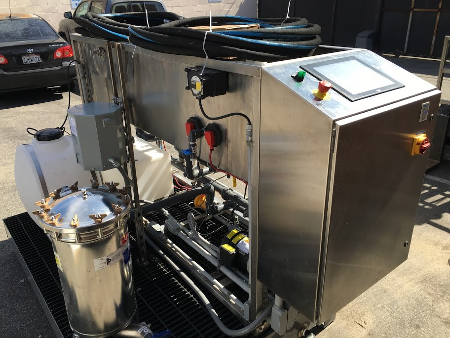 Pilot system for our Wisconsin JV for agricultural effluent reuse.