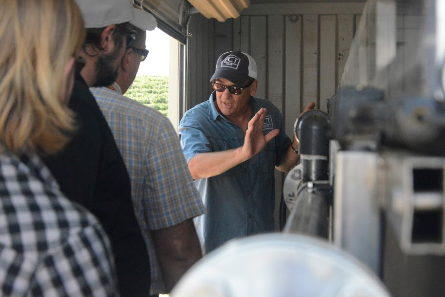 In Kern County, Nicholas Eckelberry explains the operation of OriginClear's P3000.