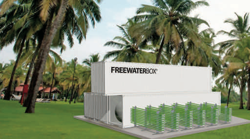 Integrated in 40′ ISO containers, Ennesys' FREEWATERBOX is easy to transport, install and scale.