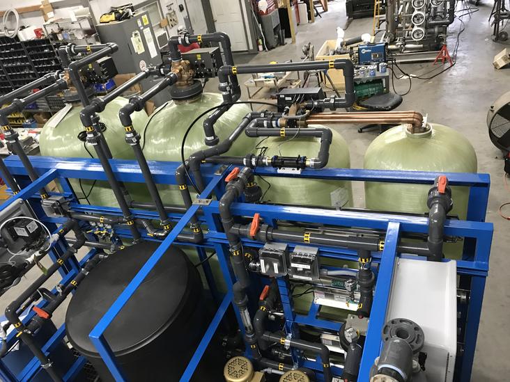 Skid Mounted Water Softener & Carbon Filter System-lr