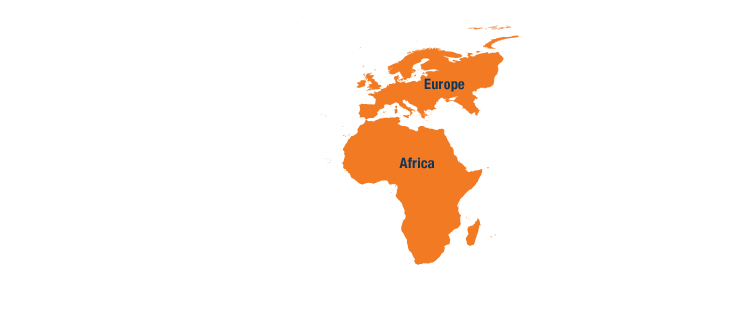 Map - Europe and Africa